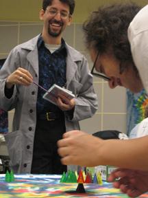 Lab coat action shot