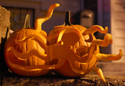 Octopus pumpkin stencil